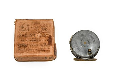 Lot 3071 - A Hardy 3 1/8'' Duplicated MkII Perfect Trout Fly Reel with RHW, agate line guard, brass foot,...