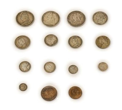 Lot 2013 - Victoria, a Collection of 13 x Silver Coins comprising: 3 x crowns: 1889 minor rim knock at 7...