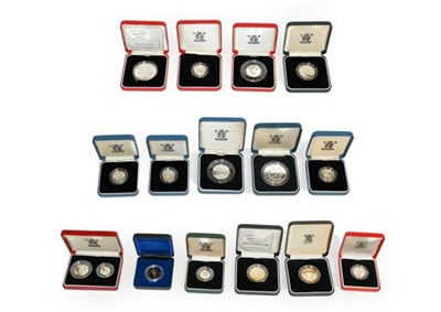 Lot 2019 - Elizabeth II, A Collection of 13 x Silver Proof Coins consisting of: 1990 ''Queen Mother's 90th...