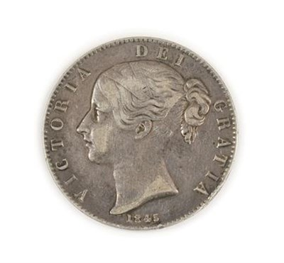 Lot 2020 - Victoria Young Head Crown 1845 VIII, cinquefoil stops, obv. light contact marks/hairlines & a...