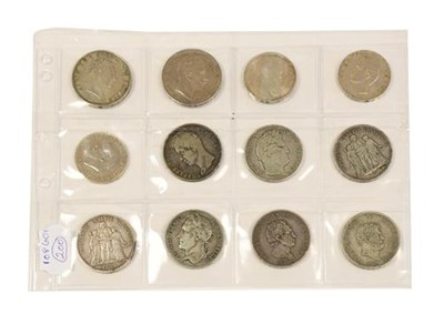 Lot 2023 - 12 x European 19th & Early 20th Century Silver Coins (including 9 x crown size) comprising:...