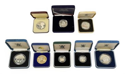 Lot 2024 - 4 x Commemorative Silver Proof Crowns comprising: 1980 'Queen Mother's 80th Birthday,'  1990 'Queen