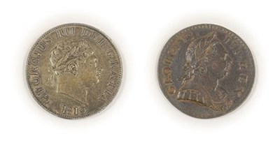 Lot 2027 - George III Halfcrown 1819, minor contact marks on bust & minor rev. rim imperfections at 7 & 8...