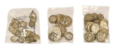 Lot 2028 - £1.65 Face Value Pre-20 Silver, mostly Victoria & Edward VII, wt. 176g & £1.75 face value...