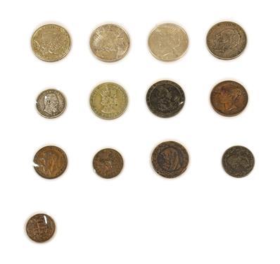 Lot 2029 - 6 x Foreign Silver Coins comprising: USA, Morgan dollar: 1878s (San Francisco Mint), minor obv....