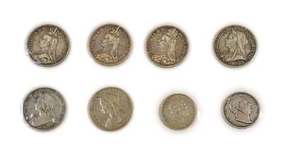 Lot 2031 - Victoria, 6 x Crowns comprising:  1887, 1889, 1890, 1893 LVI, 1894 LVIII, & 1895 LIX, all with good
