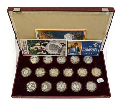 Lot 2038 - 'The Royal Marriage Commemorative Coin Collection,' a complete set of 16 x sterling silver...