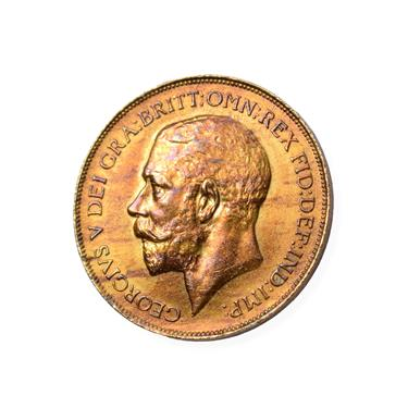 Lot 2042 - George V, 'Hollow Neck Penny' 1911, obv. the King's neck slightly modified with a distinct...