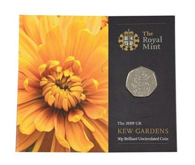 Lot 2043 - Elizabeth II, 2009 ''Kew Gardens'' Brilliant Uncirculated Fifty Pence. Obv: Fourth portrait of...