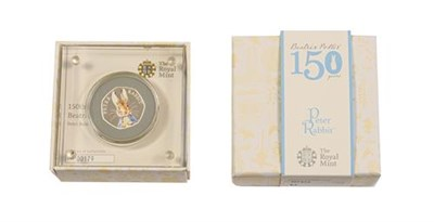 Lot 2048 - Elizabeth II, 2016 ''Peter Rabbit'' Colourised Silver Proof Fifty Pence. Obv: Fifth portrait of...