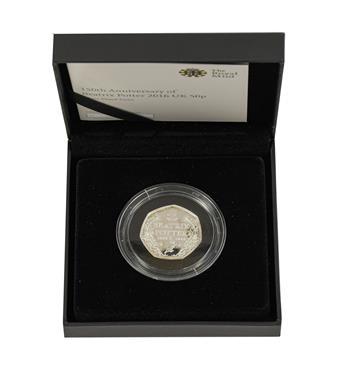 Lot 2054 - Elizabeth II, 2016 ''Beatrix Potter'' Silver Proof Fifty Pence. Obv: Fifth portrait of Elizabeth II
