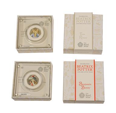 Lot 2058 - Elizabeth II, 2017 ''Benjamin Bunny'' & ''Tom Kitten'' Colourised Silver Proof Fifty Pences....