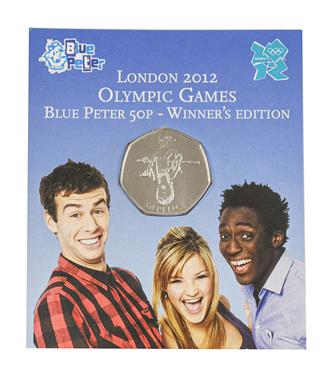 Lot 2061 - Elizabeth II, 2009 ''Blue Peter - Olympics'' Brilliant Uncirculated Fifty Pence. Obv: Fourth...