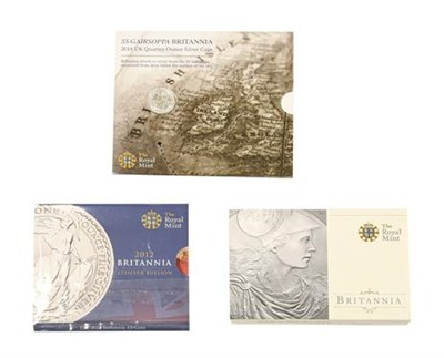 Lot 2065 - Elizabeth II, 3 x Silver Britannia Coins consisting of: 2010 two pounds. 1oz .999 silver. S....