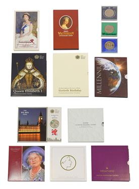Lot 2066 - Elizabeth II, A Collection of 19 x Commemorative Crowns consisting of: 2 x 1977 ''silver...
