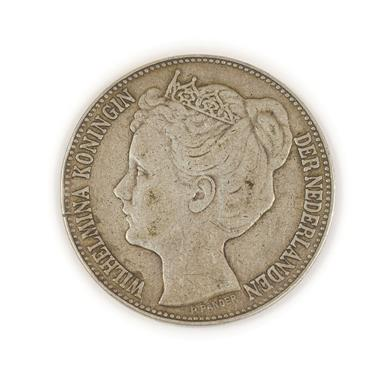 Lot 2078 - Netherlands, Silver 2½ Guilders 1898, obv. profile bust of Queen Wilhelmina by P.Pander, rev....