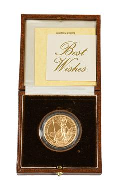Lot 2081 - Elizabeth II, Gold Proof Britannia £100 1987, containing 1oz fine gold, obv. Maklouf portrait...