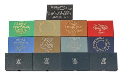 Lot 2085 - A Collection of 16 x UK Proof Sets 1971-1986, all with certificates of authenticity, in Royal...