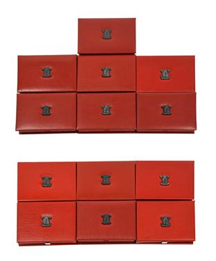 Lot 2086 - A Collection of 13 x UK Proof Sets 1987-1998 (includes 2 x 1989), all with certificates of...