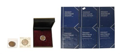 Lot 2094 - A Collection of UK Pre-Decimal Coins contained in 6 x Whitman folders & comprising: a complete...