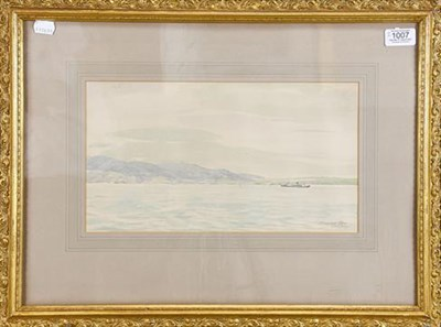 Lot 1007 - Sir Muirhead Bone HRWS (1876-1953) a view of the Cap Della Roca, Portugal, signed and inscribed...