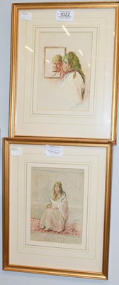 Lot 1022 - Laurence Harris (19th century) Scenes from a Harem, a pair, signed, watercolour (2)