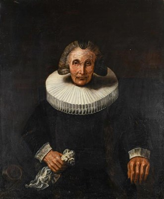 Lot 1023 - A portrait of a lady, after Rembrandt, unframed