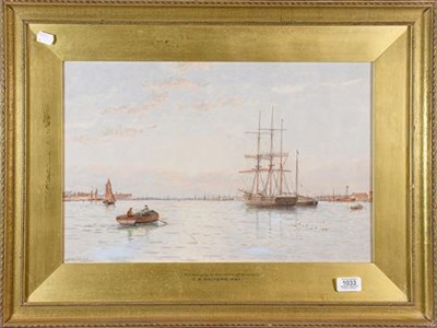 Lot 1033 - G.S. Walters RBA (19th/20th century)  Timberships on the river at Yarmouth, signed watercolour,...
