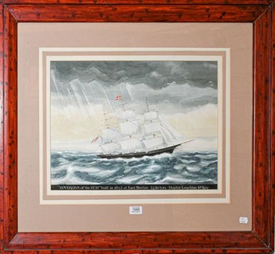 Lot 1049 - British or American School (19th/20th century) ''Soverign of the Seas'', bulit in 1852 at East...