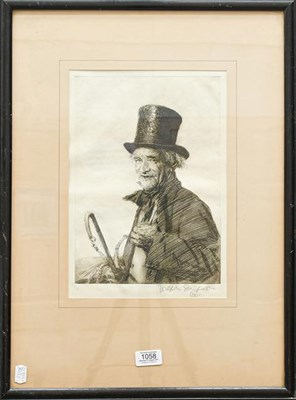 Lot 1058 - Joseph Simpson (1879-1939), John Peel, signed in pencil, etching, 29.5cm by 20.5cm