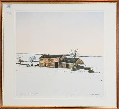 Lot 1066 - After Peter Brook, a signed limited edition print, ''Empty Pennine Farm'', numbered 147/300