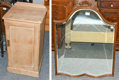 Lot 1107 - Late Victorian pine bedside/pot cupboard, 42cm by 37cm by 75cm together with two other side...